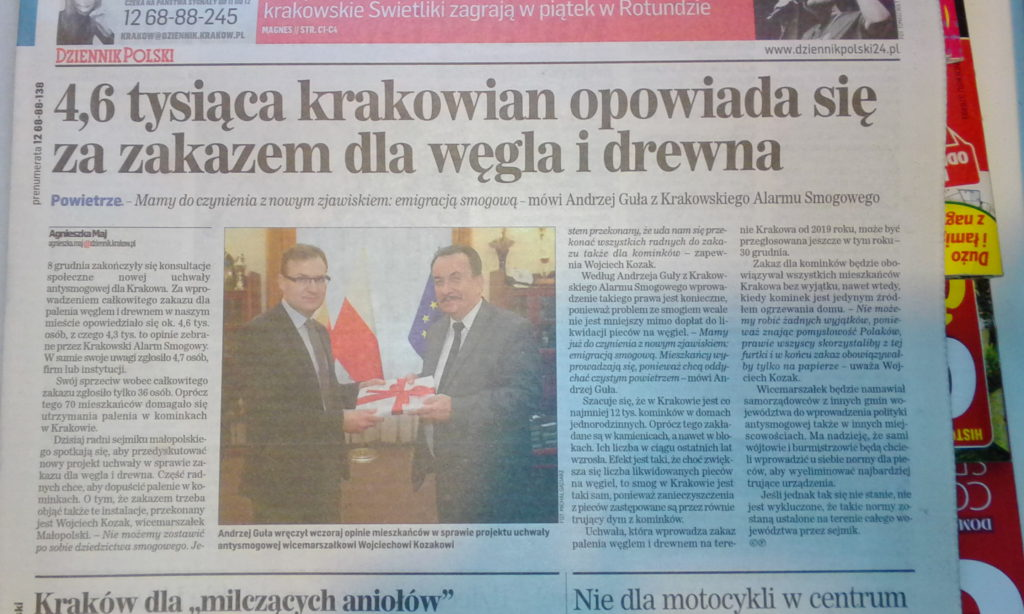 5 tysiecy osób popiera krakowski zakaz